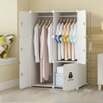 B Simple Wardrobe Plastic Assembly Storage Cabinet Single Assembly Children's Simple Modern Economic Wardrobe