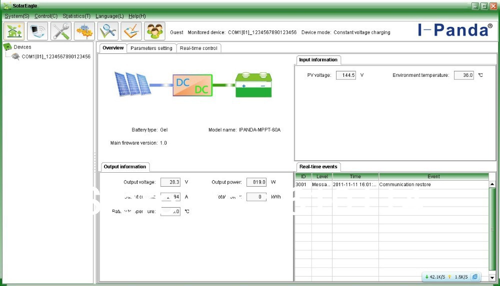 The Password Of Software For Mppt Solar Charge Controller