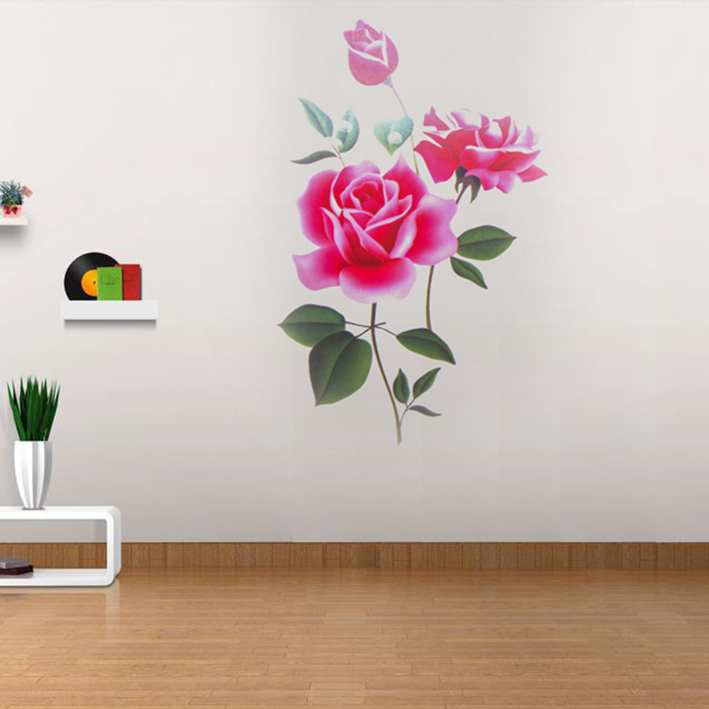 Romantic Rose Flower Love 3d Wall Sticker Home Decor Living Room Bedroom kitchen flower shop Decals Mothers Day gift Home Decor