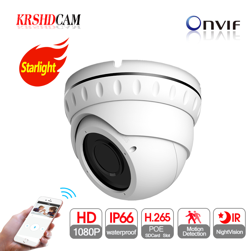 2MP IP camera full HD 1080P POE onvif P2P SONY IMX307 Sensor indoor room dome 2.8-12mm varifocal nightvision video surveillance цена