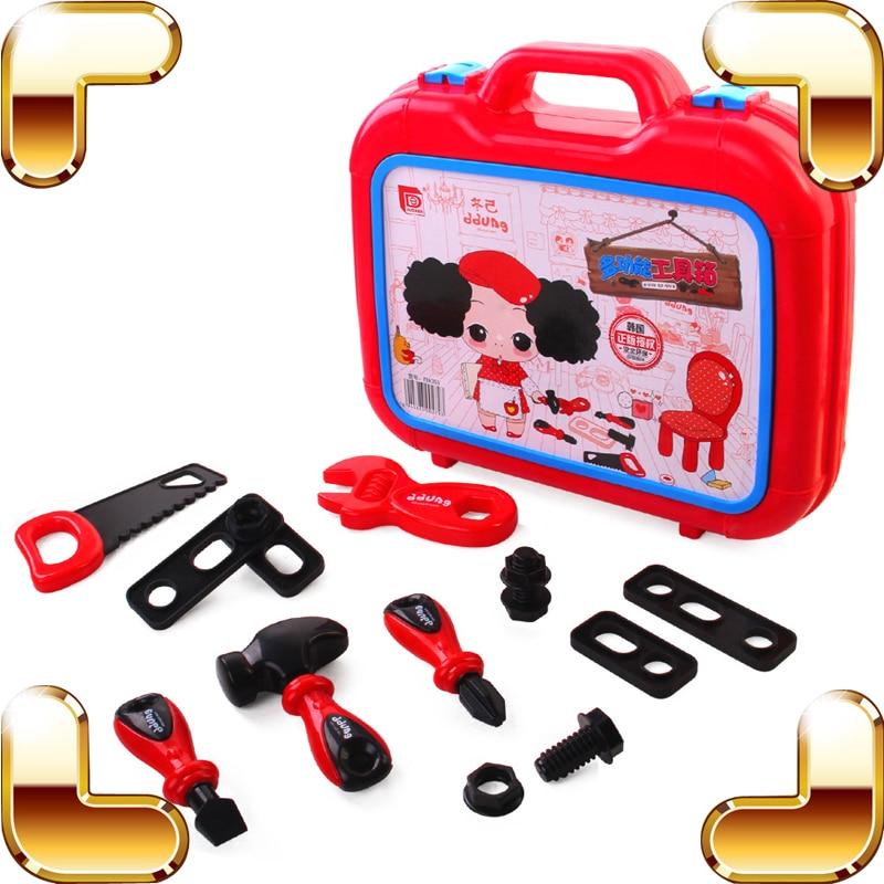 Nouveau cadeau à venir enfants semblant jouer outil jouets bébé bricolage jeu sûr apprentissage éducation enseignement jouet enfants facile à utiliser amusant présent