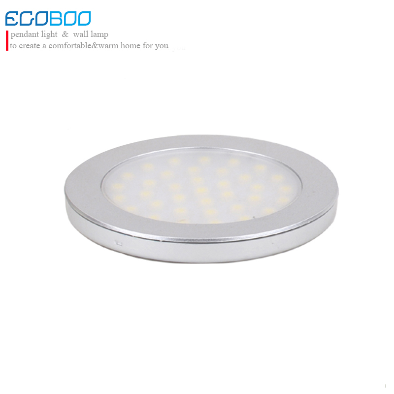 New 2014 3W LED Round Under Cabinet Battery Light 9.5-30v DC as Solar Lamps 24V Lighting  Free Shipping