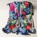 102070 20 Цвета 175x65 см 2016 женская Мода Шелковые Платки Шарф Шарф Дамы Шелковый шарф Прямоугольник шарф Чистого шелка шарф