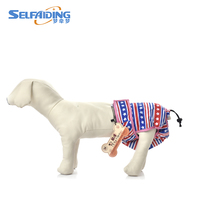 Print Waterproof Dog Shorts Washable Dog Diapers Female Washable Reusable FDD 704