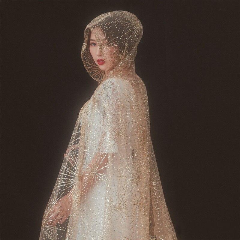 3.5 m Velo Da Sposa Da Sposa Lungo Spray Oro Veli da sposa per la Sposa con Pettine Accessori Da Sposa Cattedrale velos da sposa abiti da sposa 2018 - 5