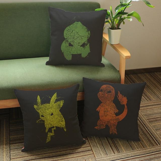 Pikachu Cushion Cover Pocket Monster Anime Charmander Sofa Seat