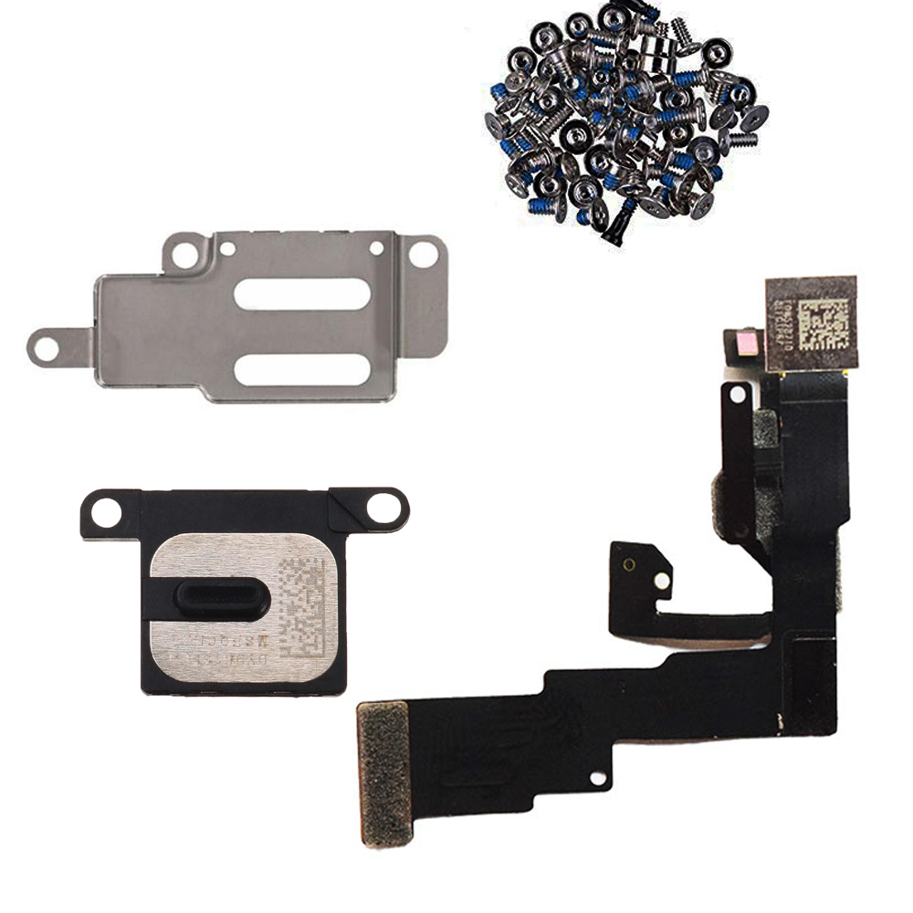 4pcs/set For IPhone 5 5s 6 6s 6Plus 6s Plus Front Camera Flex Cable + Earpiece And Metal  Bracket + Full Set Screws