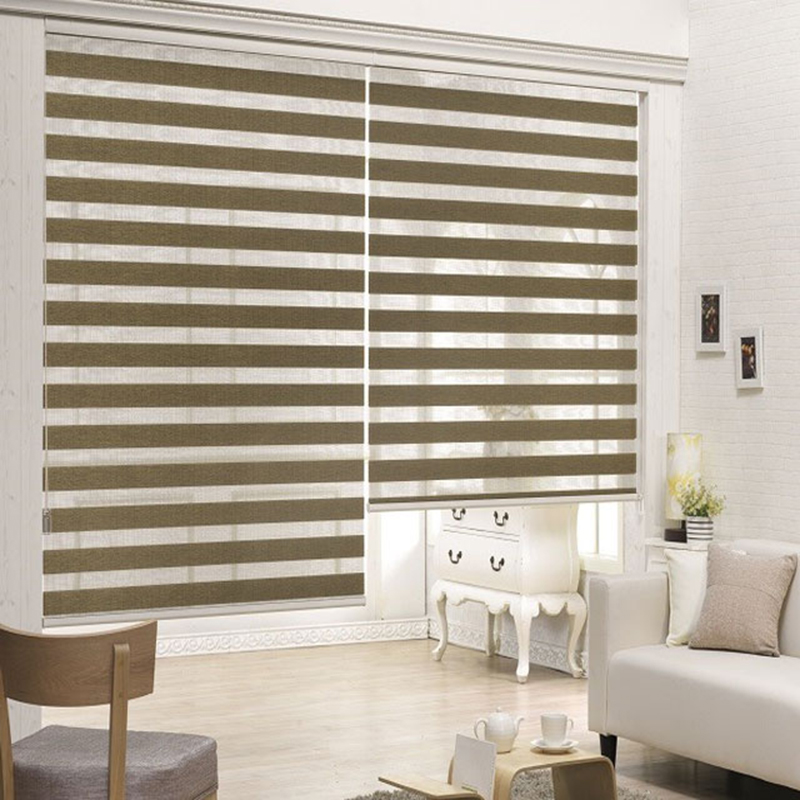 European sytle china factory free shipping double roller blinds zebra blinds with 100 blackout custom made
