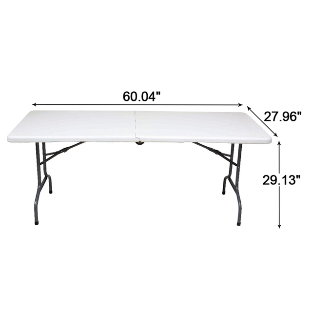 "Alextend Fold-N-Roll 60.04"" x 27.95"" Dining Table White"