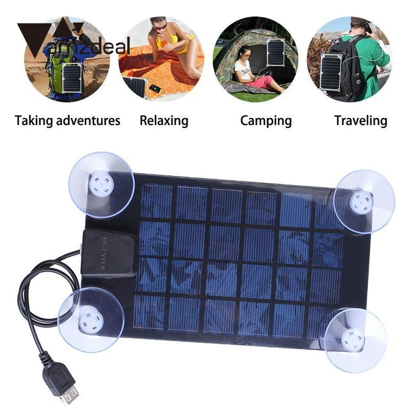 amzdeal Solar Charger Ultra Thin Solar Panel 6V USB 2.0 Camping Outdoor Portable Outdoor Travelling Powerbank DIY Cell Module