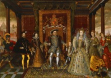 An Allegory of the Tudor Succession The Family Henry VIII SILK POSTER Decorative painting  24x36inch