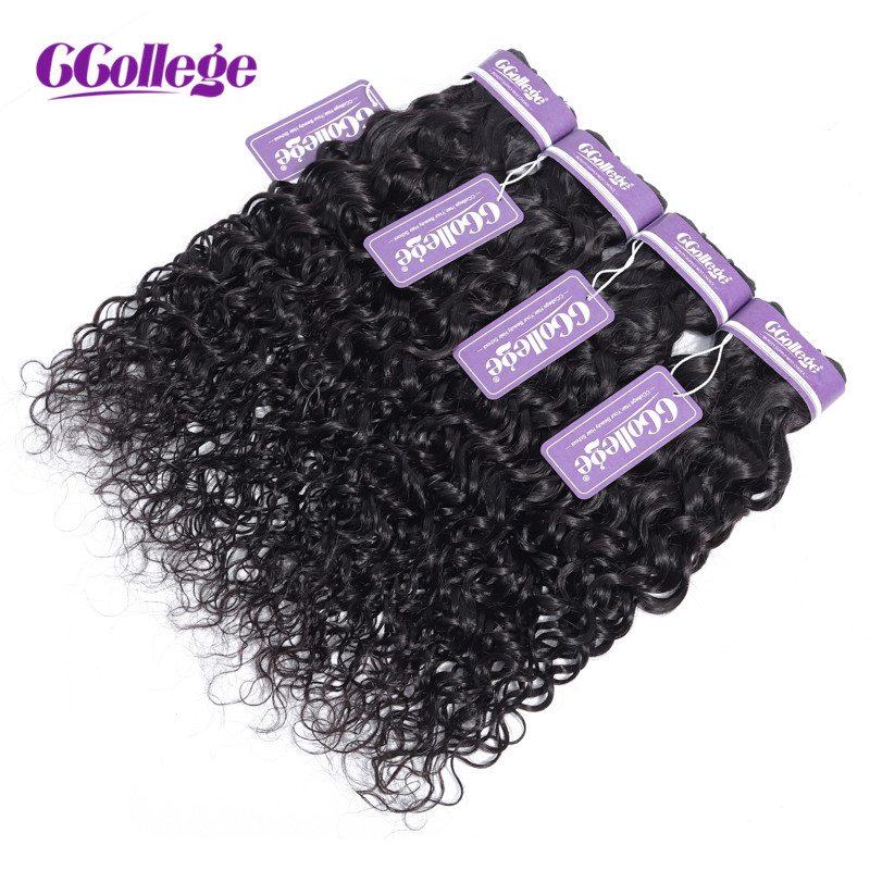 CCollege Brazilian Hair Weave Bundles Water Wave Natural Color 3 Pcs lot Flat Double Weft Remy
