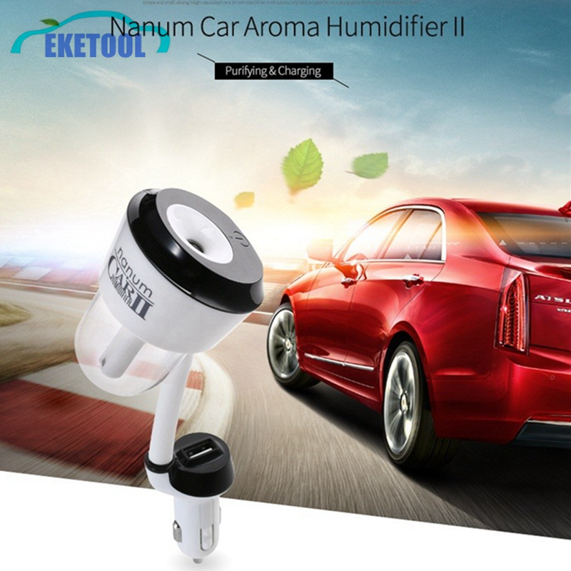 new upgrade 2nd generation car car humidifier with usb charger auto car air purifier aroma. Black Bedroom Furniture Sets. Home Design Ideas