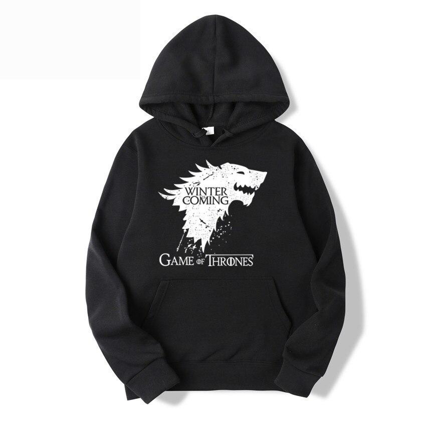 Vintage House Stark Sigil Hoodie // Power Game Hoodie GoT Lone Wolf Unisex Sweatshirt By So Effing Cute - Game Inspired By Power