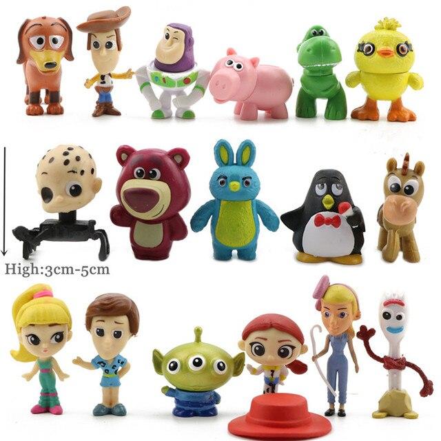 17 шт./компл. История игрушек 4 фигурка игрушки древесный Базз Лайтер Джесси форки Кукла коллекционная модель детских игрушек подарок