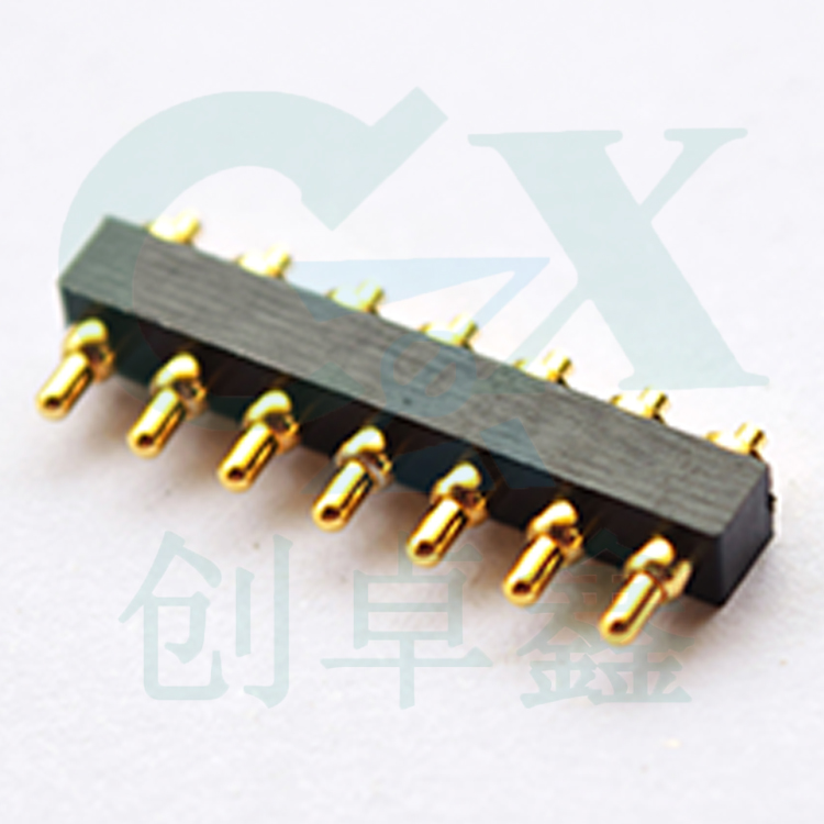 цена на male 2.54mm 7pin plastic housing spring loaded gold plating battery contact pin pogo pin connector