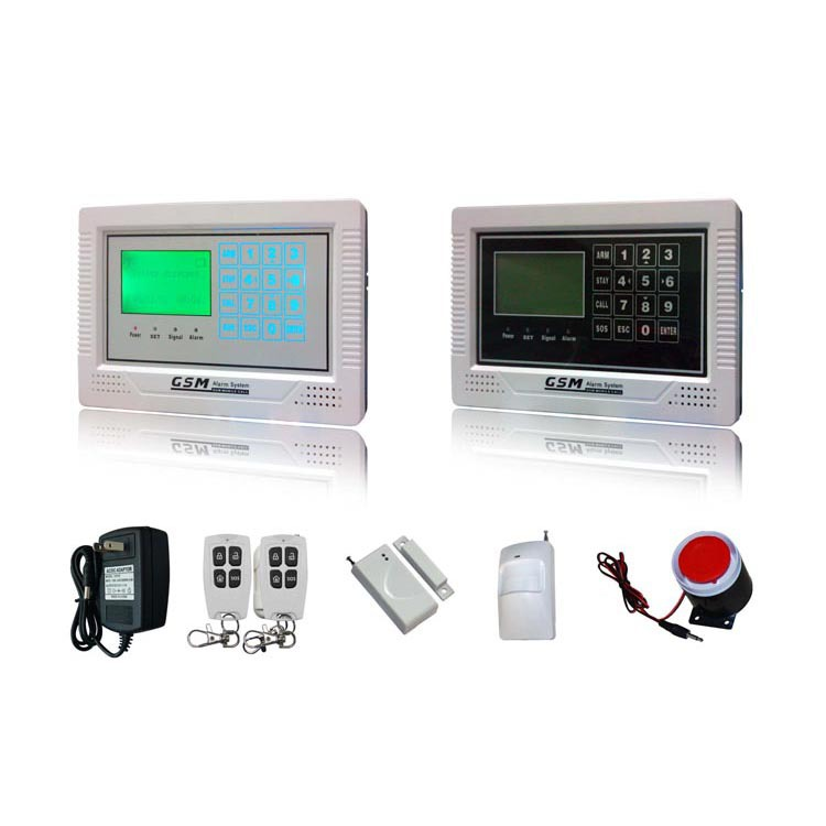 Tamperproof LCD display touch keypad voice guide GSM alarm system,burglar alarm system ,door alarm sensor good quality sms gsm security alarm with voice in 7 languages touch keypad app controlled burglar alarm system with new sensor