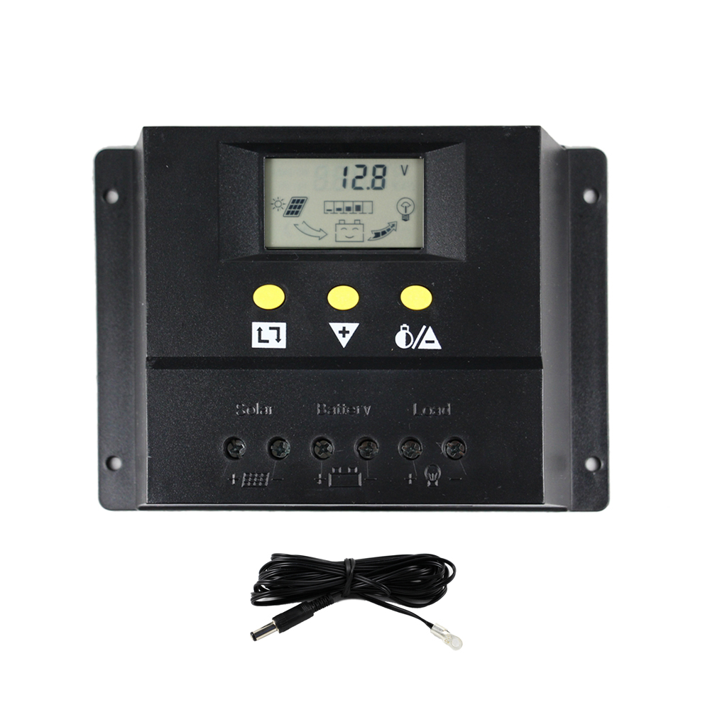 60A 12V 24V Auto Solar Controller with LCD Display for Solar Home system Indoor Use Solar Charge Controller Solar Regulator