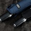 8 К БОЛЬШОЙ высокое качество bussiness Audi натуральной кожи ручка Японский бренд солнце дождь Зонтик 3 Свернуть Anti UV Французский royal