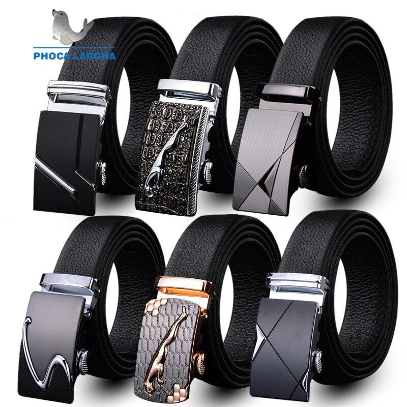 Mens Fashion   Belt   PU Leather Automatic Buckle Men Black   Belt   Designer Popular Casual Business Male   Belts   Luxury 3.5 CM