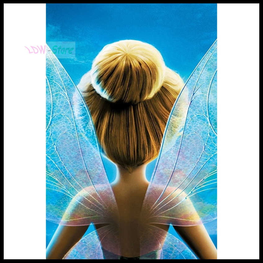 5D DIY Diamond Painting New arrival Tinker Bell fairy wing Embroidery Full  Square Diamond Cross Stitch f75829f49739