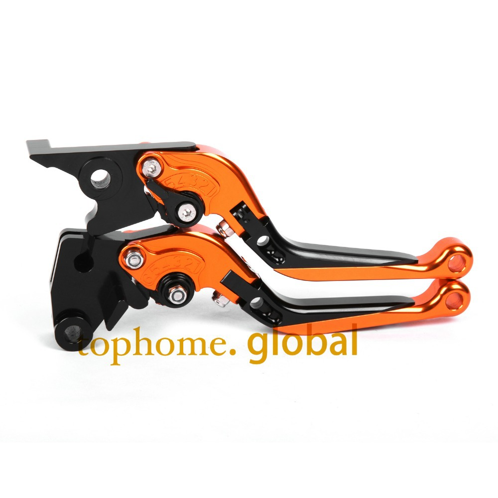 CNC Folding&Extending Brake Clutch Levers For Moto guzzi Stelvio 1200 4V 2008-2014 2009 2010 Orange&Blac Motorcycle Accessories motofans cnc clutch brake levers adjuster for moto guzzi stelvio 2008 2015 norge 1200 gt8v griso 06 07 08 09 10 11 12 13 14 15