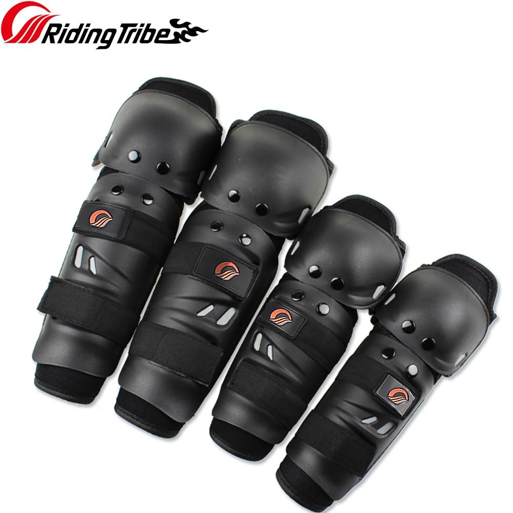 En la tribu de la motocicleta en la rodilla almohadillas de carreras de Motocross de engranajes de piernas y manos guardias 2 rodilla 2 codo protección HX-P01