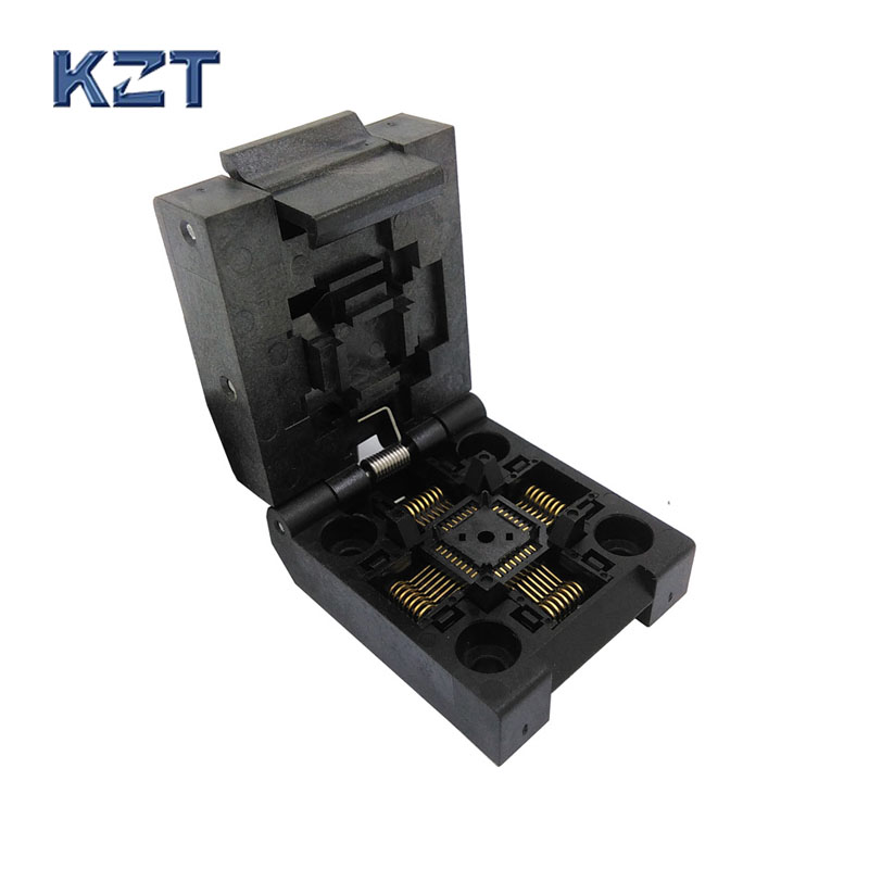 QFP32 TQFP32 LQFP32 Clamshell Burn in Socket IC51-0324-1498 Pitch 0.8mm IC Test Socket Programmer Adapter import block adapter ic51 0562 1387 adapter tsop56 test burn