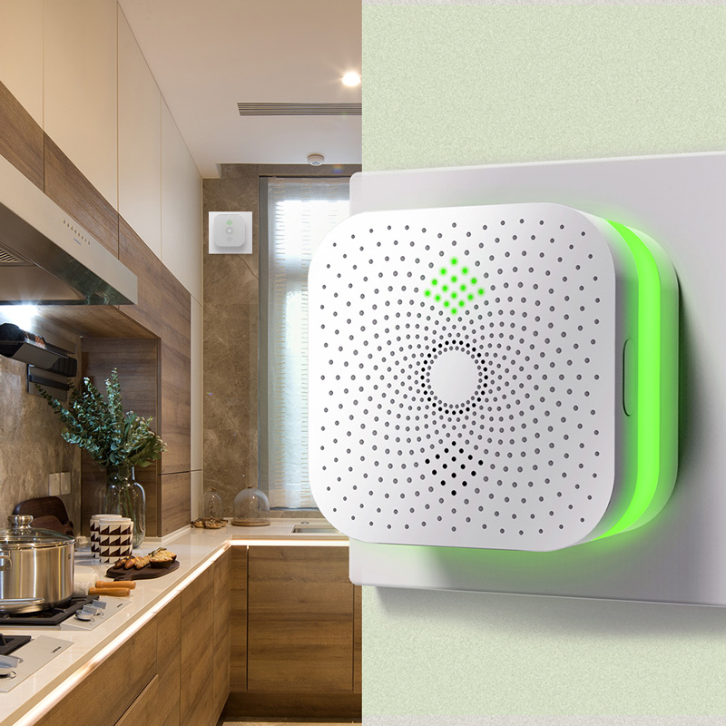 Smart Home Methane Propane Combustible Gas Leak Detector Sensor 360 Degree Sound And Light Alarm For Home Safety Kitchen Use