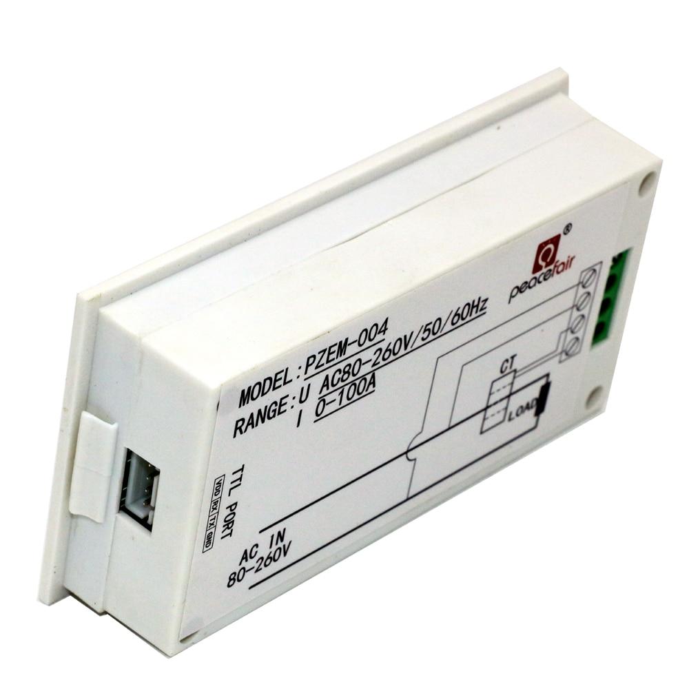 4 in 1 AC 80v-260V Digitale 0 ~ 100A Watt Potenza Energia Contatore - Strumenti di misura - Fotografia 5