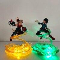 My Hero Academia Bakugou Katsuki VS Midoriya Izuku Action Figures Led Toy Boku no Hero Academia Anime Battle Scene