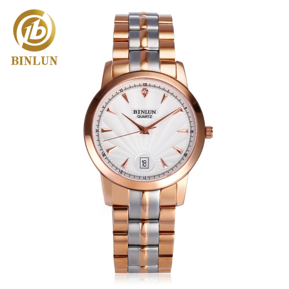BINLUN 2018 Relojes de cuarzo ultra delgado Reloj de cuarzo - Relojes para hombres