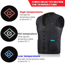 Motorcycle Vest Electric Battery Heating USB Sleeveless Vest Winter Heated Outdoor Sport Jacket Unisex Cycling Racing Back Armor