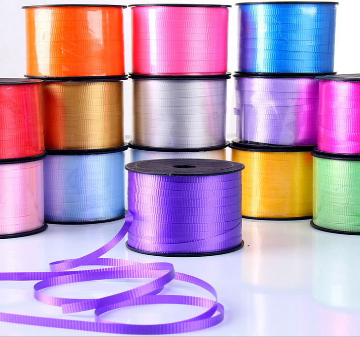 Free shipping 10pcs Quality width 5mm balloon tying wire ribbons