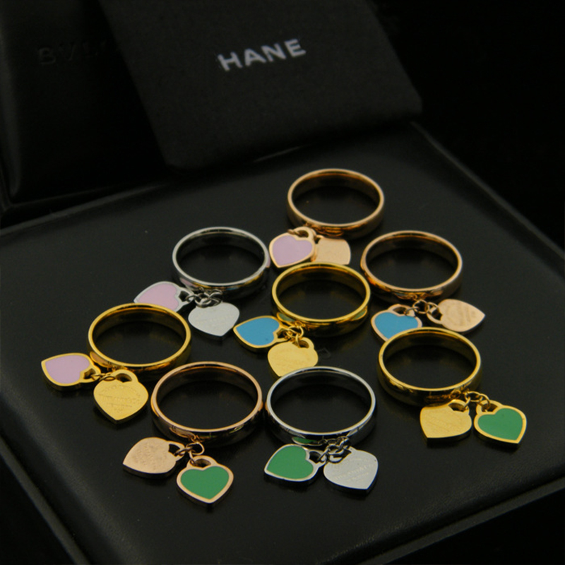 High quality brand logo ring jewelry silver& gold color pink Double T rings for women fashion jewelry party gift wholesale