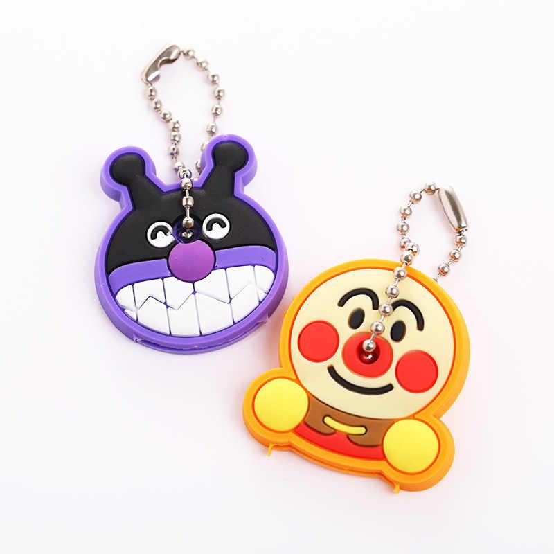 2 pçs/set Tampa Chave Bonito Anime Totoro urso Dos Desenhos Animados Silicone Titular da Chave Caps chaveiro Chaveiros Animal Engraçado