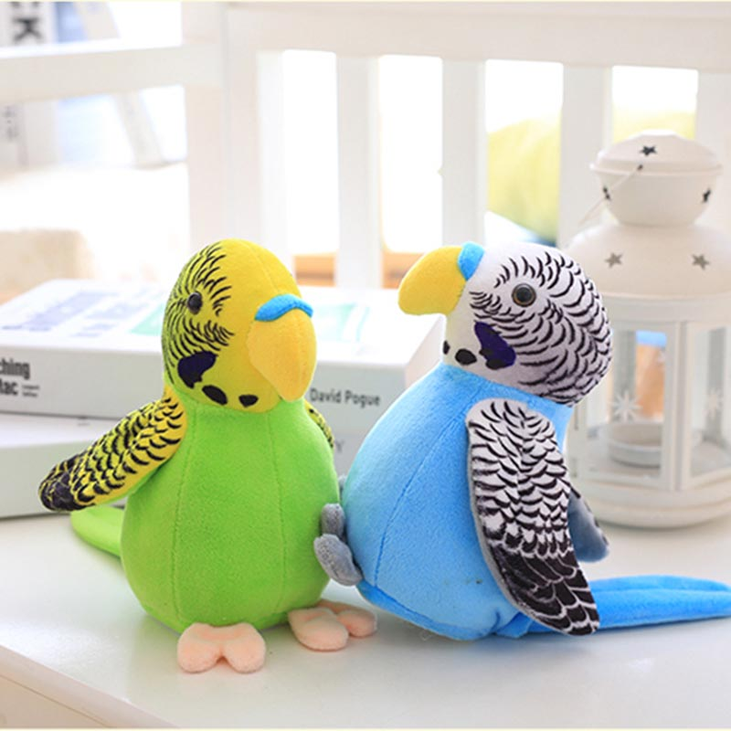 18cm Cute Electric Talking Parrot Toy Speaking Record Repeat Waving Wings Electronic Bird Stuffed Plush Toy Kids Gift ...