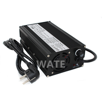 WATE 12.6V 25A Charger 3S 12V Li ion Battery pack Smart Charger Lipo/LiMn2O4/LiCoO2 battery Charger With Fan Aluminum Case
