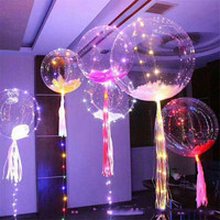 New bobo ball led line string balloon decorated with color light for Christmas Halloween Wedding Party children home Decoration