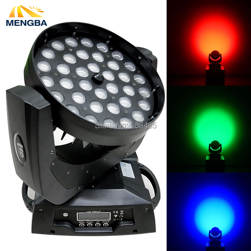 MENGBA 36x10w RGBAW 4in1 LED Moving Head Light Silent Wash Zoom LED big power colorful Stage Lighting Effect