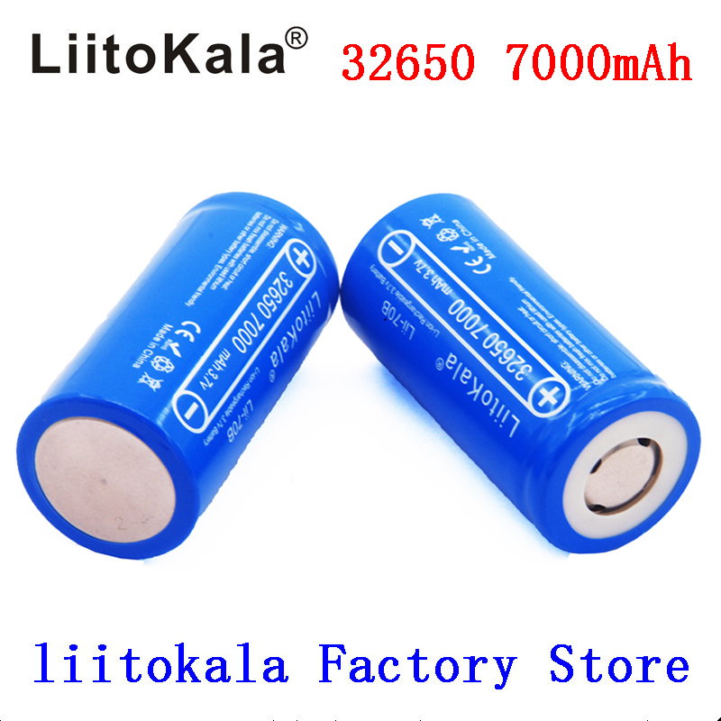 Liitokala 100% Original Lii-70B 7000mAh Rechargeable Lithium Battery 32650 INR32650 20A Flashlight / Microphone Battery