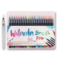 20 Colors Lot Set Professional Watercolor Painting Soft Brush Pen Set Copic Markers Pen Artist Supplies
