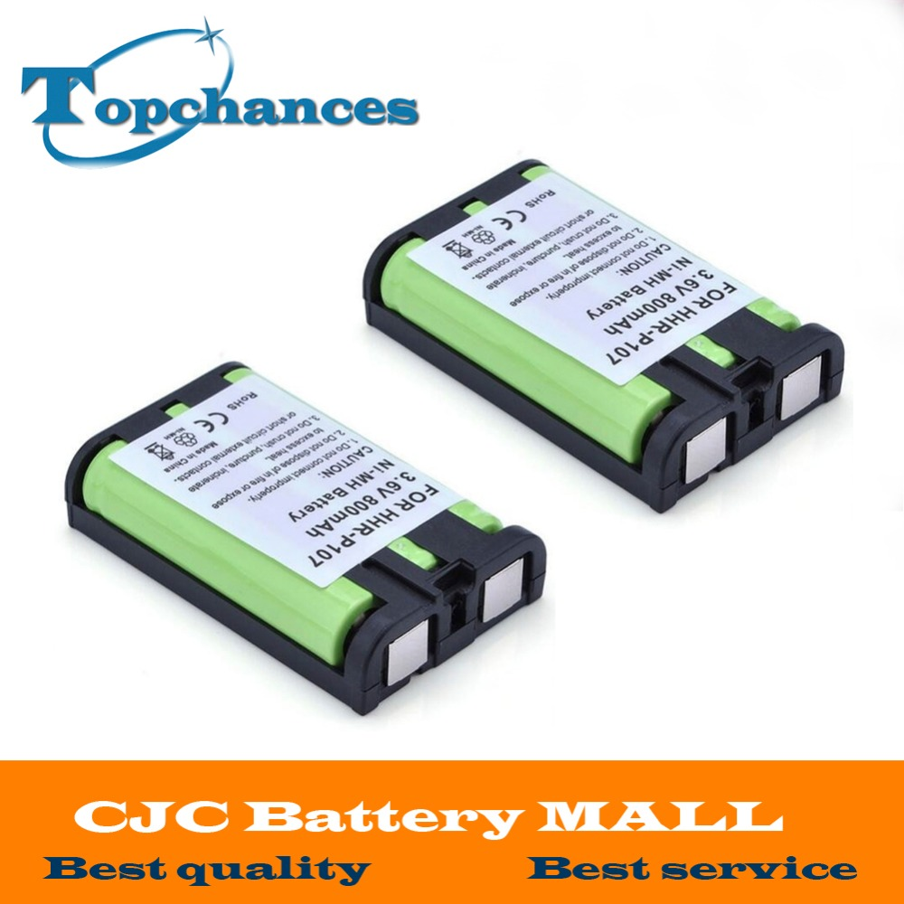 Logical 2x High Quality 3.6v 800mah Cordless Phone Battery For Panasonic Hhr-p107 Hhrp107 Hhrp107a/1b Keep You Fit All The Time Replacement Batteries Consumer Electronics