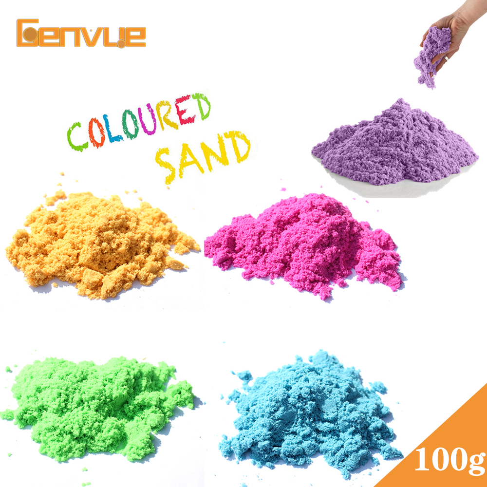 2019 Dynamic Sand Toys Clay Educational Colored Soft  Slime Fluffy Supplies Magic Sand Space Indoor Arena Play Sand  Kids Toys