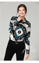 Europe and the United States slim slimming wild waist positioning printing shirt free shipping