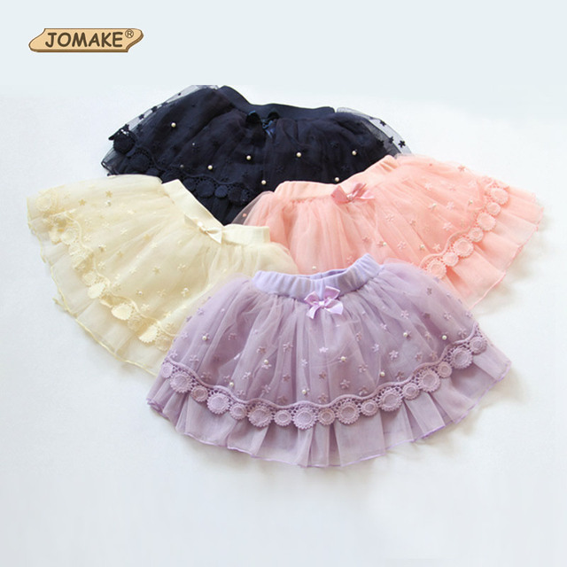 Lace Floral Girls Skirt New Spring Autumn Baby Tutu Skirt Girls Ball Gown Skirt Princess Girls Costume 4 Colors Toddlers Wear