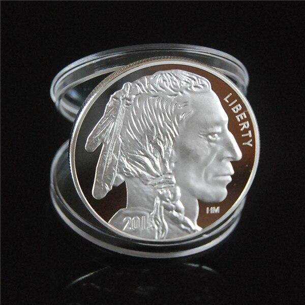 2015 indische/Buffalo BU 1 unze. 999 Silber Runde-BEGRENZTE USA AMERIKANISCHEN MÜNZEN kostenloser versand