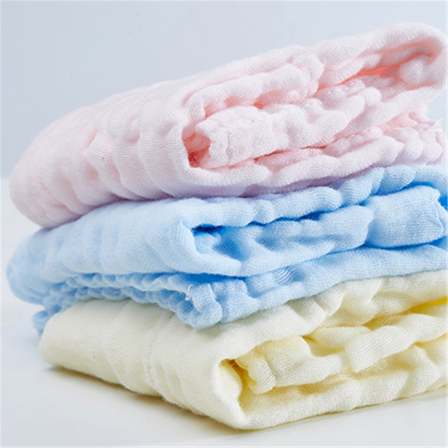 Newborn Baby Towel Cotton Bath Set Bamboo Washcloth Solid Wipes ...