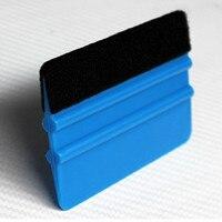 Mavi Altın Keçe Silecek Araba Ev Temizlik Araçları Vinil Temizleyici Karbon Fiber Araba Folyo Vinil streç film Pencere Tonları Araçları -