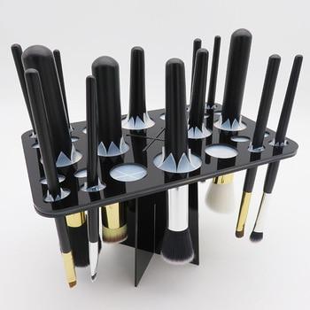 26-Hole Makeup Brush drying Oracle Storage Bracket Silicone Card hole shelf organizer mac makeup Cosmetic brush holder